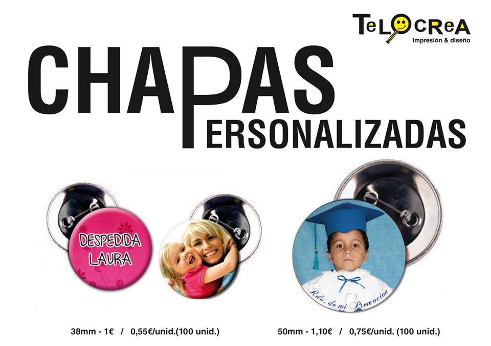 Chapas Personalizadas en Telocrea